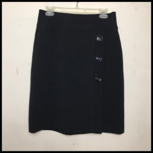Career or Evening Skirt Button & Stitching Details